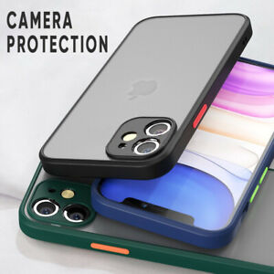 Case-For-iPhone-12-11-Pro-Max-XR-X-XS-7-8-Plus-Matte-Clear-Hard-ShockProof-Cover