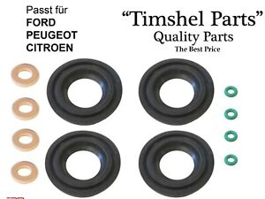 O-E-FORD-FUEL-INJECTOR-SEAL-WASHER-O-RING-SET-FORD-TRANSIT-MK7-2-2-2-4-TDCi