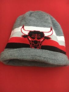 Grey Chicago Bulls Beanie/Winter Cap (adult small/youth large)