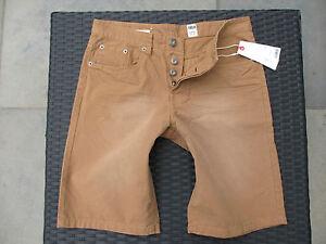 s-ESPRIT-5-Pocket-Bermudas-Shorts-RELAXED-FIT-Used-Look-braun-Gr-W29-W30-NEU