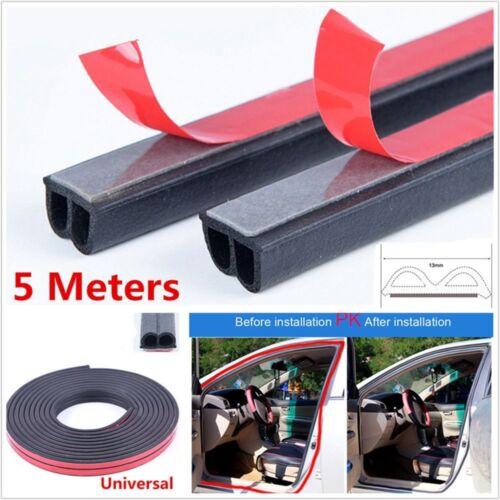 2018 5M Black B Shape Car Door Rubber Soundproof Wertherstrip Hollow Seal Strip