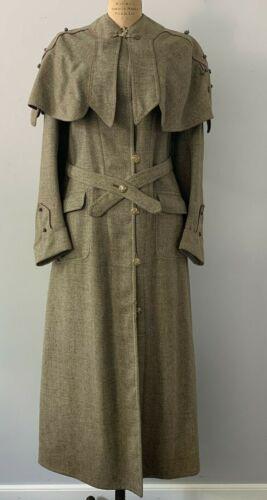 Rare Antique Victorian Wool Cloak Coat w/ Attached