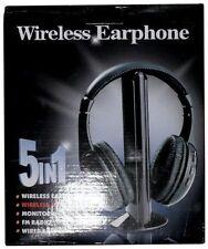 PI-06879 Black Headband Headsets Headphones 5 In 1 Wireless FM Radio Quality