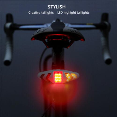Wireless Remote Control Turn Signal Bicycle Lights LED Tail Rear Light Warn Lamp