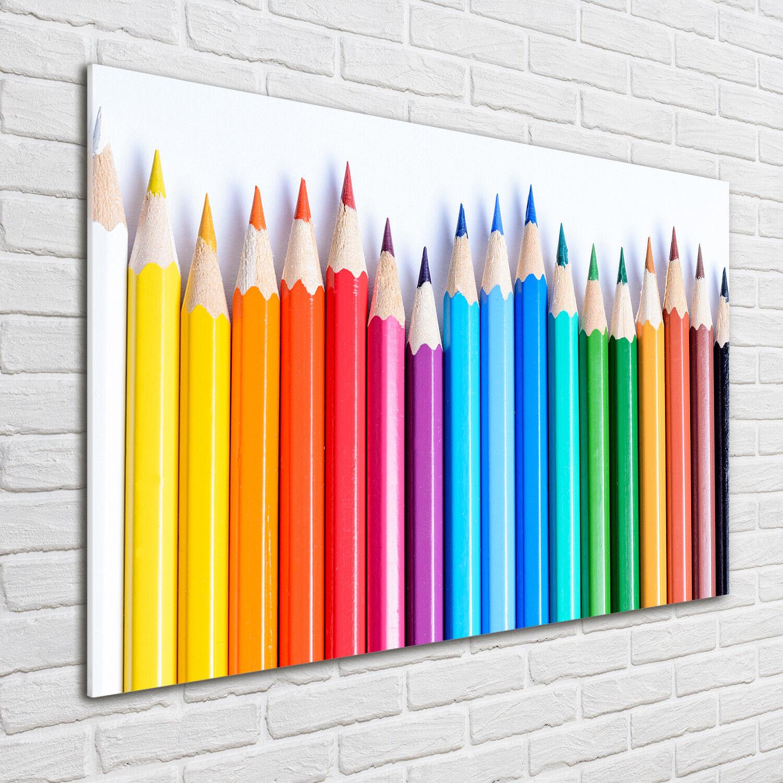 Glas-Bild Wandbilder Druck auf Glas 100x70 Deko Sonstige Buntstifte