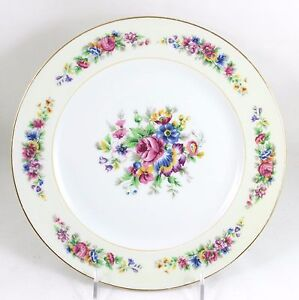 Image is loading SET-S-6-DINNER-PLATES-ANTIQUE-AHRENFELDT-LIMOGES-  sc 1 st  eBay & SET(S) 6 DINNER PLATES ANTIQUE AHRENFELDT LIMOGES FRENCH CHINA GOLD ...