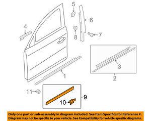 AUDI OEM 02-05 A4 Quattro Front Door-Lower Molding Trim Left 8E08539597DL