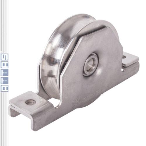 Edelstahl Laufrolle Tor Schiebetor Innenstützplatte D90//20mm Tragkraft 210 kg