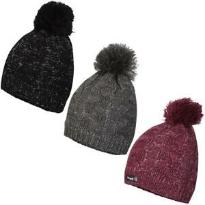 b97a597b0 Details about Proclimate Ladies Lurex Waterproof & Breathable Thinsulate  Beanie Cable Knit Hat