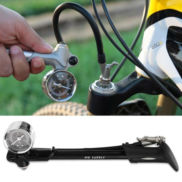 CyclingDeal High Pressure Bicycle Bike Floor Air Pump Gauge Rapid T-Valve 160 Ps