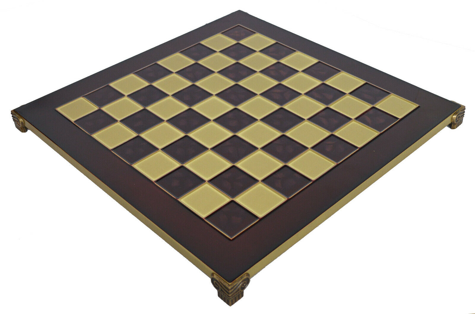 Manopoulos Brass & rot Chess Board - 1.375  Squares