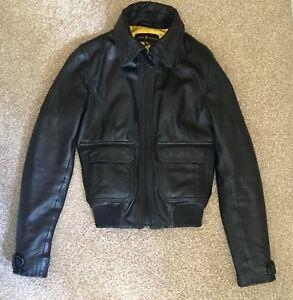 Taylor motard taille 8 noir Veste en cuir And Barney zf0nw0YBqd