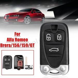 3-bottoni-Nero-Cover-guscio-chiave-telecomando-per-Alfa-Romeo-Brera-156-159-GT
