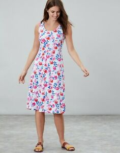 Joules-Gabriella-Sleeveless-Jersey-Dress-White-Multi-Floral