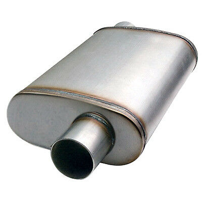 """2.5/"""" In//Out Offset//Offset ETC 49236 Performance Muffler Stainless"""