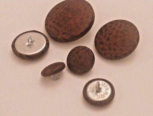 Brown Faux Leather Tufting Buttons 37mm 25mm 16mm 20mm 31mm 18mm