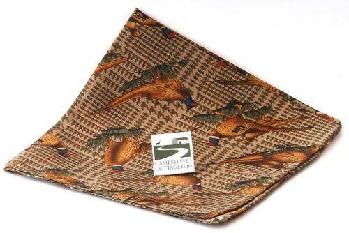 Faisan Tir Costume Pocket soie mouchoirs hanky