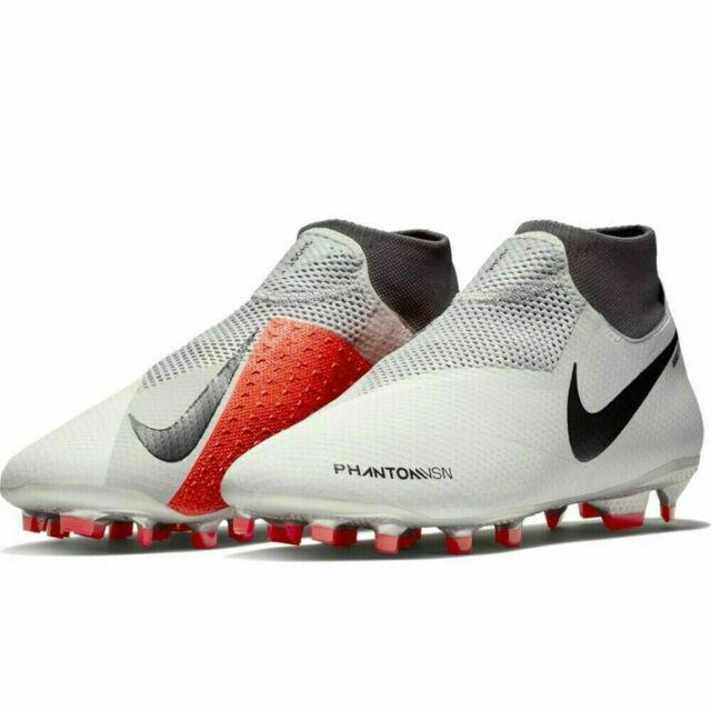 ccedbc4d08f5 Nike Men's Phantom Vision Pro DF FG Soccer Cleats (white/grey) Size ...