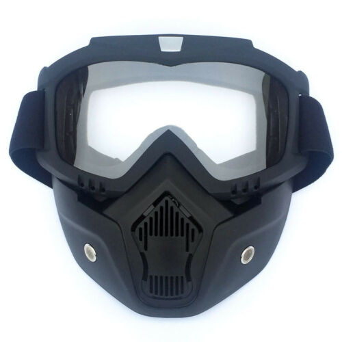 Racing Detachable Motorcycle Helmet Protect Face Mask Shield Goggles For Harley