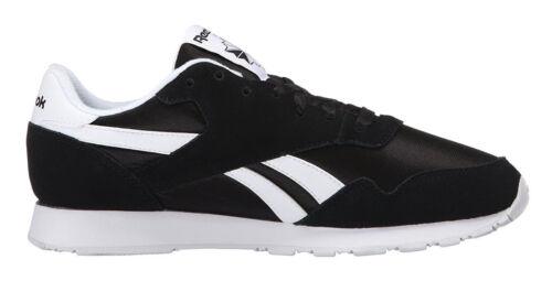 Reebok Classic Nylon Black White Mens Running Tennis Shoes Item 6604