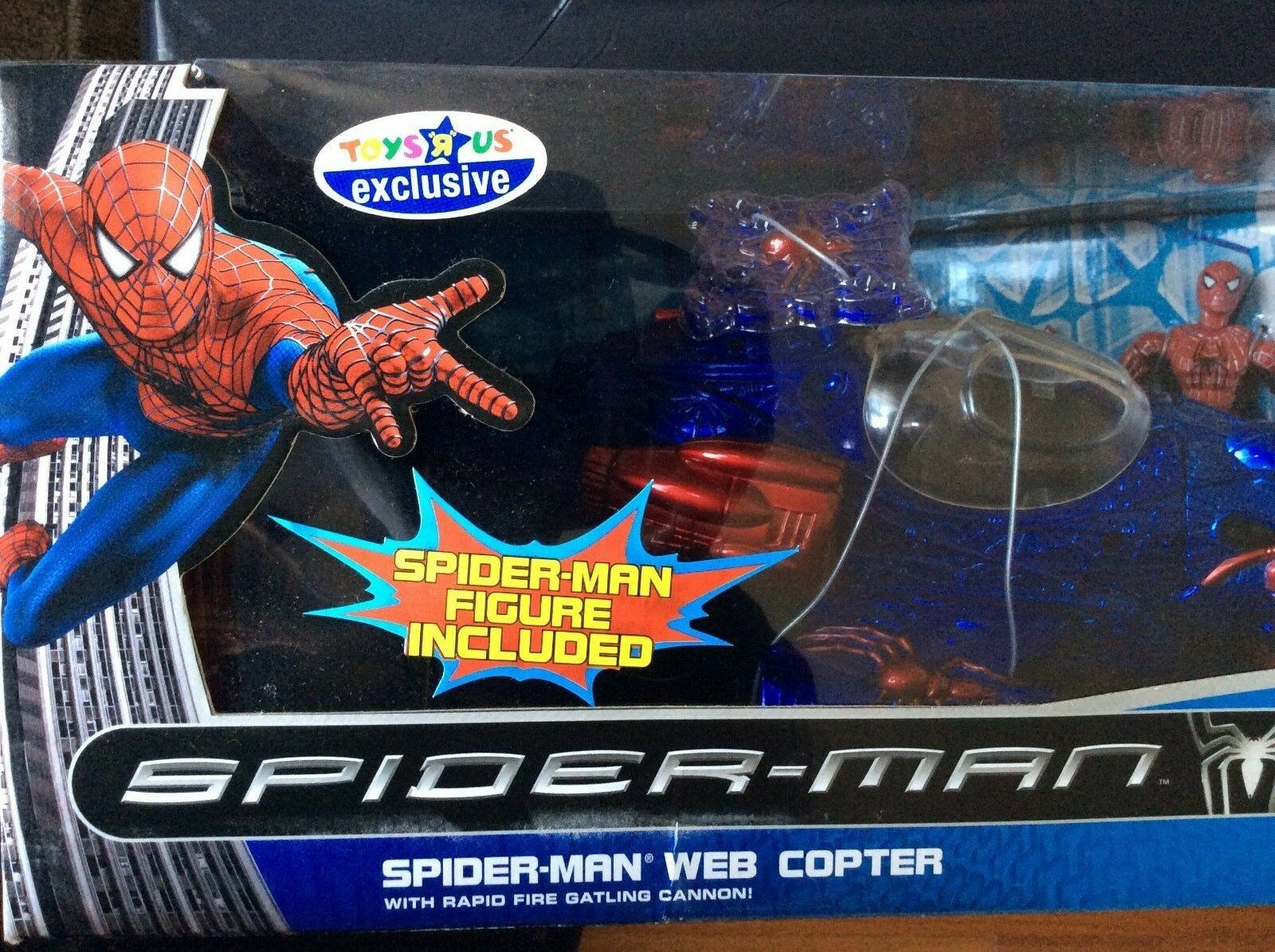 Spider-man Spider Web Copter W Rapid Fire Gatling Gun and 5  Action figure VHTF