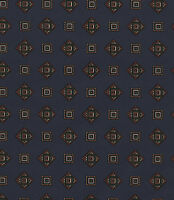 Emblem Diamond Square Country Navy Blue Vintage Retro 1 Double Roll Wallpaper