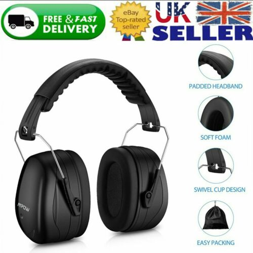 Mpow Folding Ear Defenders Muffs Noise Hearing Protection Padded PPE SNR 34dB UK