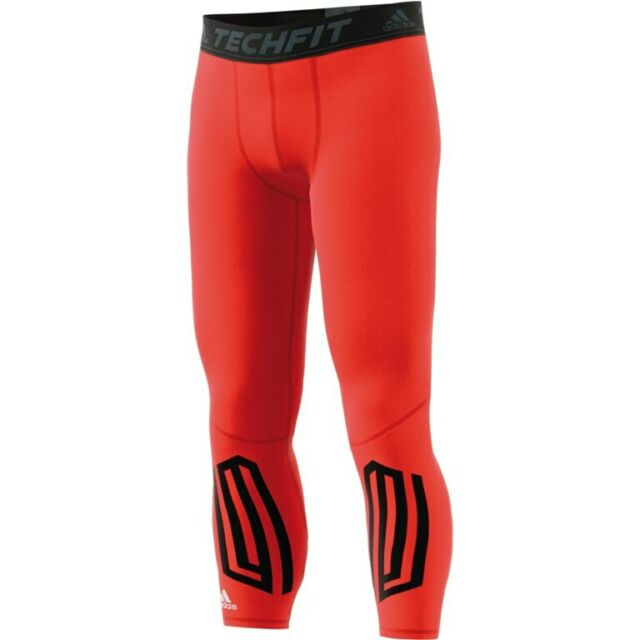 6e60cddfbf adidas Techfit Compression Base Layer Mens Fitness Long Legging Tights  Bottoms