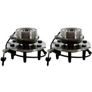 2 Front Wheel Hubs & Bearings Pair Set w/ ABS fits Chevy GMC Truck 4X4 4WD AWD 828028502593