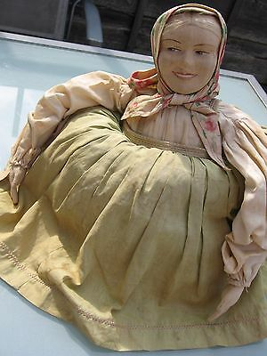 RARE VINTAGE/ANTIQUE EARLY 1900'S RUSSIAN COUNTRY FOLK ART TEA COSY DOLL-VGC