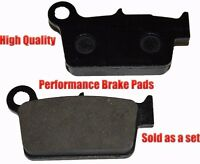 Suzuki Rm-z250 Rear Brake Pads Racing Pro Factory Braking 2004-2012