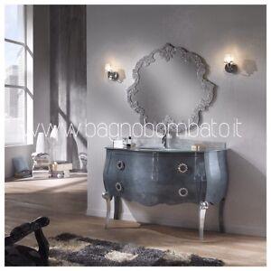 Mobile Bagno Stile Barocco Bombato Top Cristallo Argento | eBay