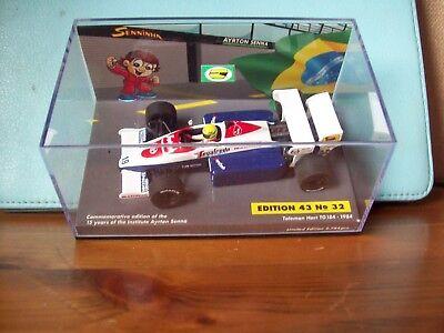1/43 Ayrton Senna N. 32 La Toleman Hart Tg184 1984 + Custodia-mostra Il Titolo Originale Eccellente (In) Qualità