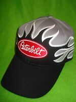 Peterbilt Hat: Black / Front Flame Solid Cloth Free Shipping In Usa