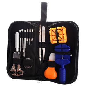 13Pcs-Outil-kit-Reparation-Entretien-Gousset-Cle-Ouvre-Boitier-Montre-Horloger-U