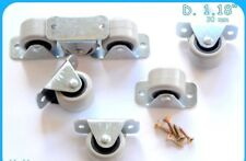Rigid Rubber Fixed Caster Wheels Casters 30mm Furniture Beds Drawers Boxes