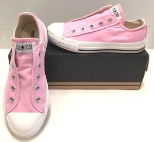 73d012a65031 New CONVERSE Chuck Taylor All Stars PINK No Lace Low Top Sneakers ...