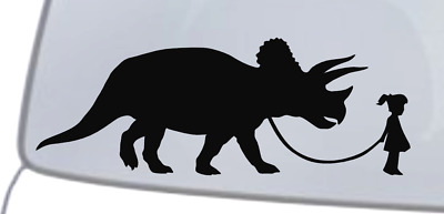 TRICERATOPS Vinyl Decal Sticker Car Window Wall Bumper Three-Horn Dinosaur Cool