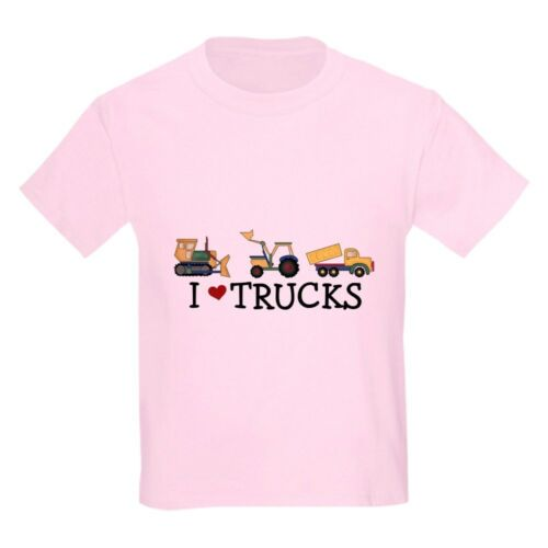 CafePress I Love Trucks Kids Light T Shirt Kids Light T-Shirt 750158769