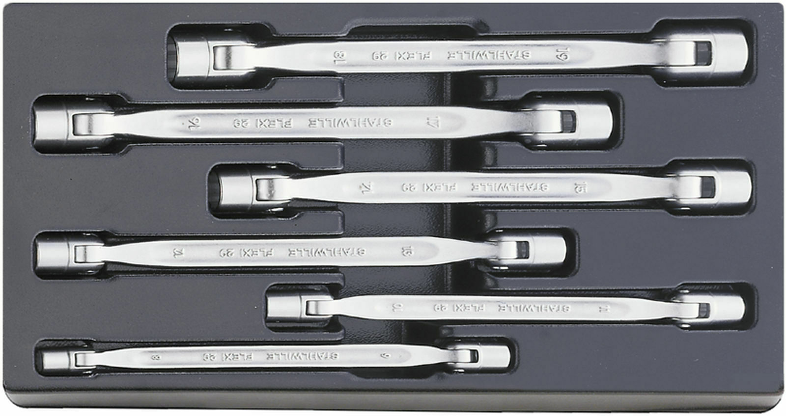 Stahlwille SET DOUBLE ENDED FLEXI-JOINT SPANNERS 96838109 Set with  6 Psc. ES 29