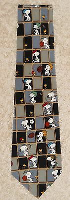 "Peanuts Snoopy Neck tie  ""I Hate To Lose"" Sports Golf Basketball Baseball Silk"