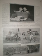 Native Life in Cochin China 1901 old print