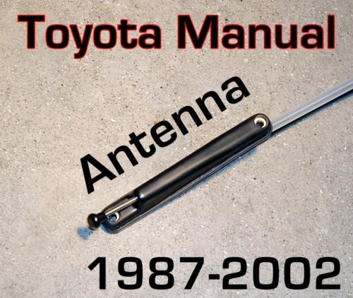 FM ANTENNA  FITS 87-02 Toyota COROLLA *Brand New* Manual-Direct Fit PILLAR AM