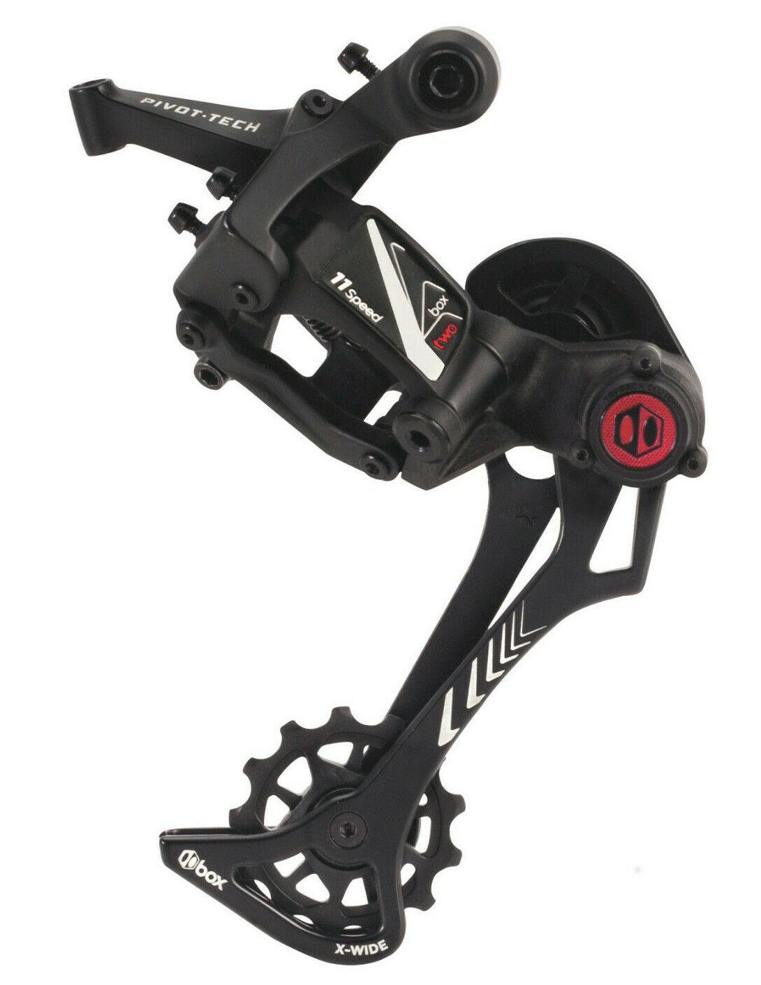 Box Dos 11 Velocidades MTB Bici de Montaña Desviador Trasero Negro X-Wide Jaula