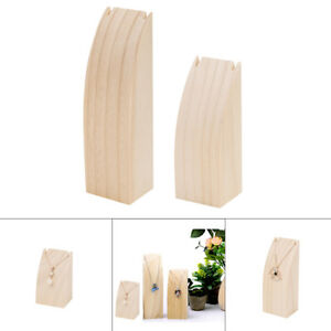 2Pcs-Wooden-Wood-Pendant-Necklace-Jewelry-Display-Stand-Rack-Holder-Hanging