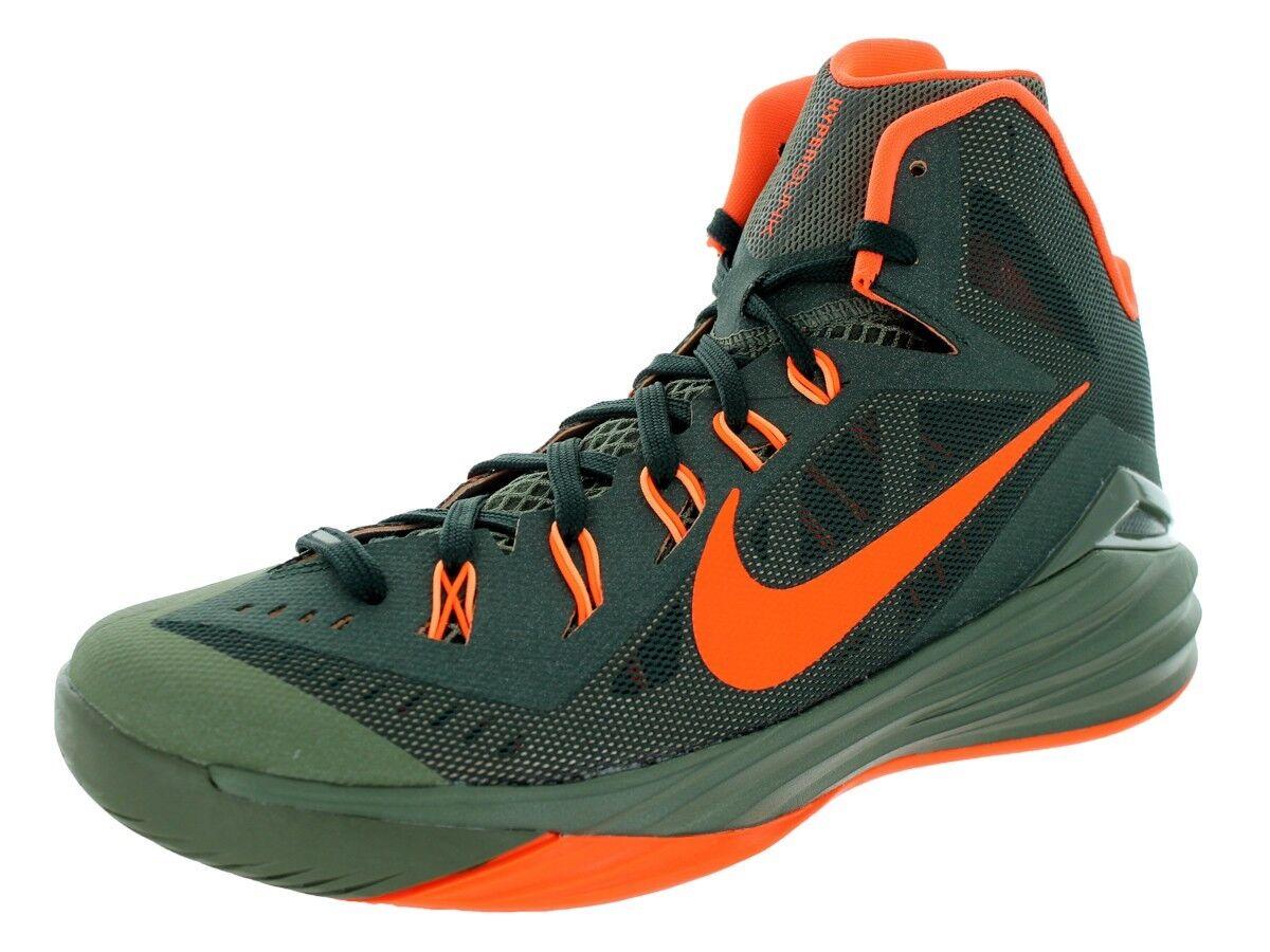 New Mens Nike Hyperdunk 2014 Basketball shoes Size 10.5 Green Crimson Iron Green