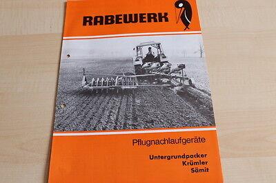 Sämit Prospekt 05/1975 Selling Well All Over The World Krümler Radient 144372 Rabewerk Untergrundpacker
