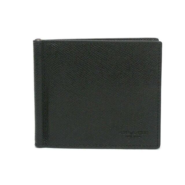COACH CROSSGRAIN LEATHER MONEY CLIP