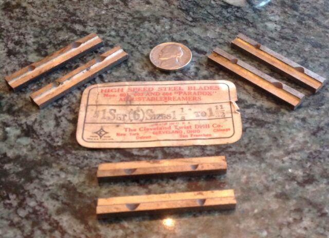 Cleveland twist drill set of 6 HSS adjustable reamer blades 1 1//8 to 1 11//32