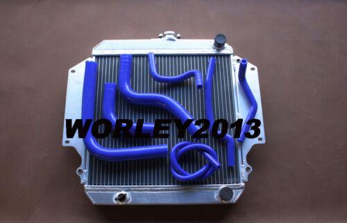 Blue hose for SUZUKI SIERRA 1.3L SJ413 1984-1996 MT Aluminum radiator